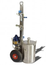 Pressure Lube International Flash Pump - S.S. Tank Trolley PLI-FP-SS-TT